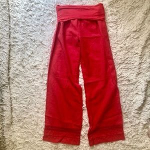 Love Tree Linen Pants Size Small Coral